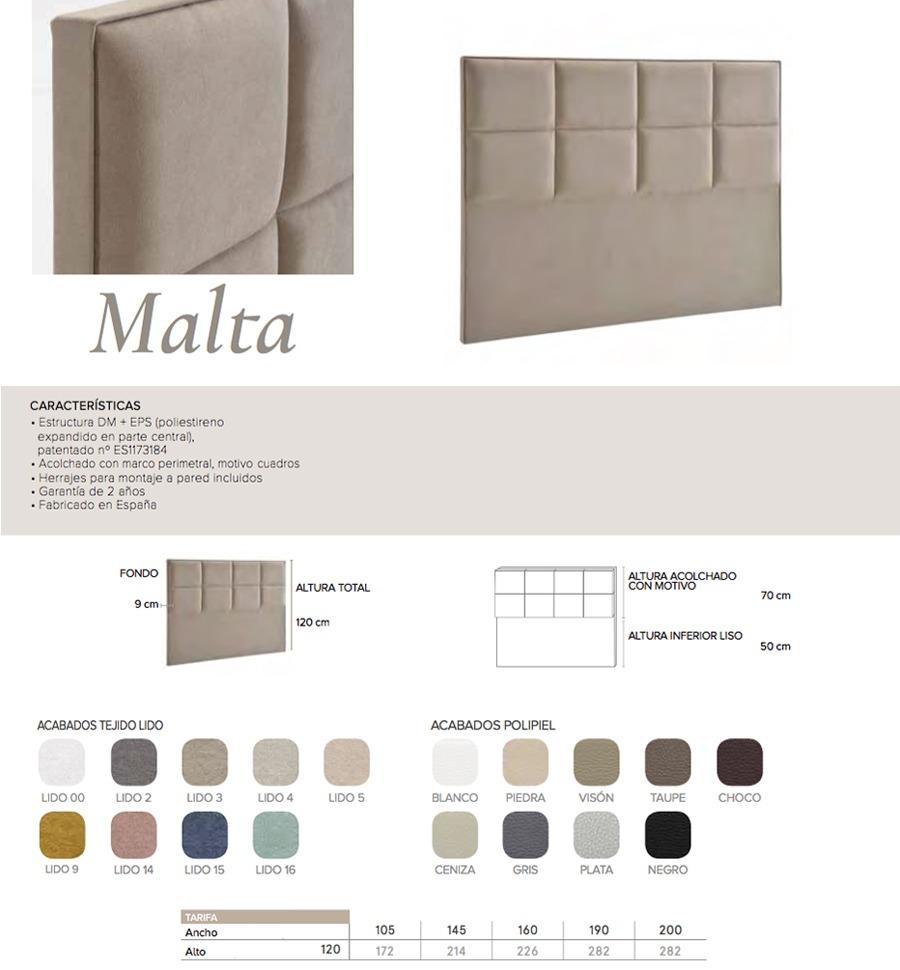 Cabecero modelo MALTA - Ref. 0010