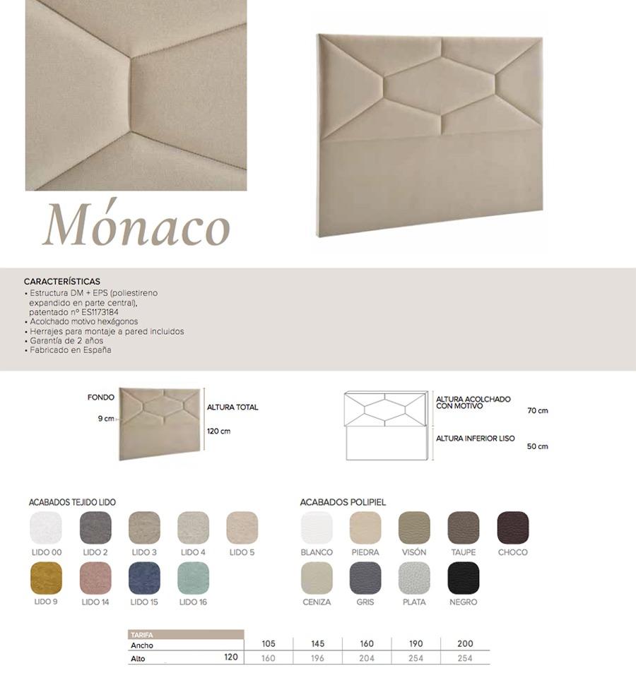 Cabecero modelo MONACO - Ref. 0014