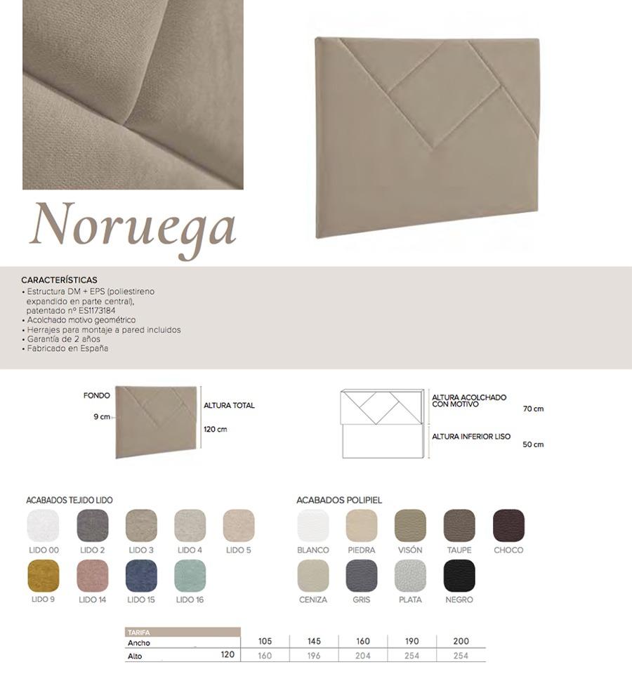 Cabecero modelo NORUEGA - Ref. 0017