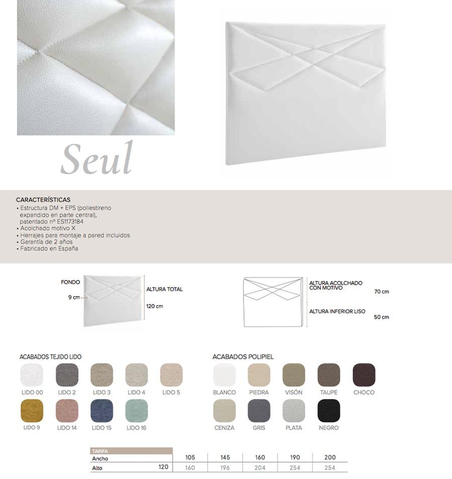 Cabecero modelo SEUL - Ref. 0019