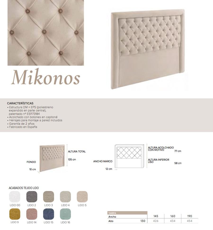 Cabecero modelo MIKONOS - Ref. 0001
