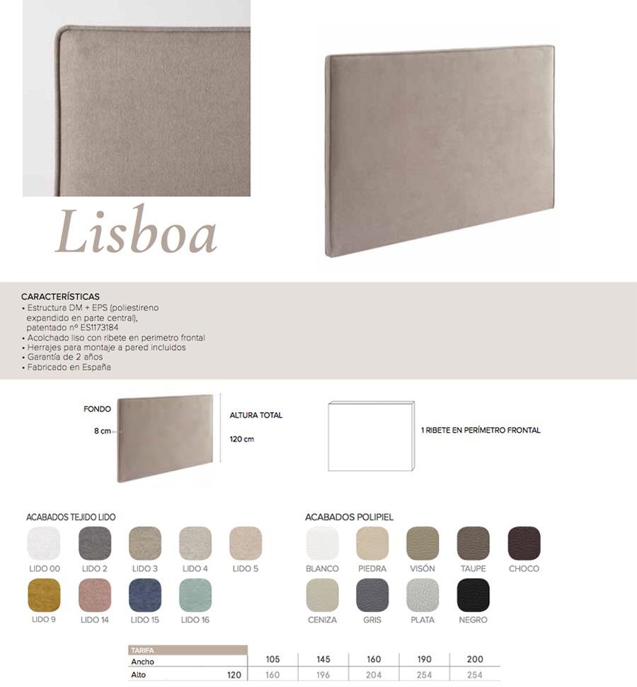 Cabecero modelo LISBOA - Ref. 0022
