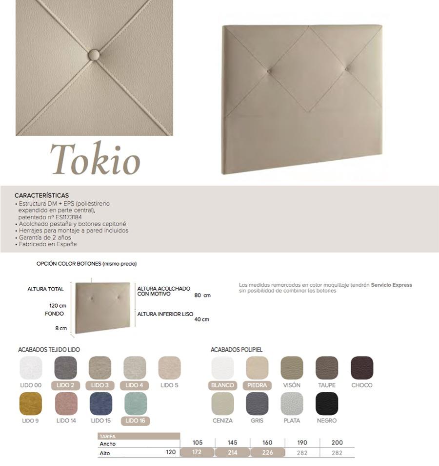 Cabecero modelo TOKIO - Ref. 0026