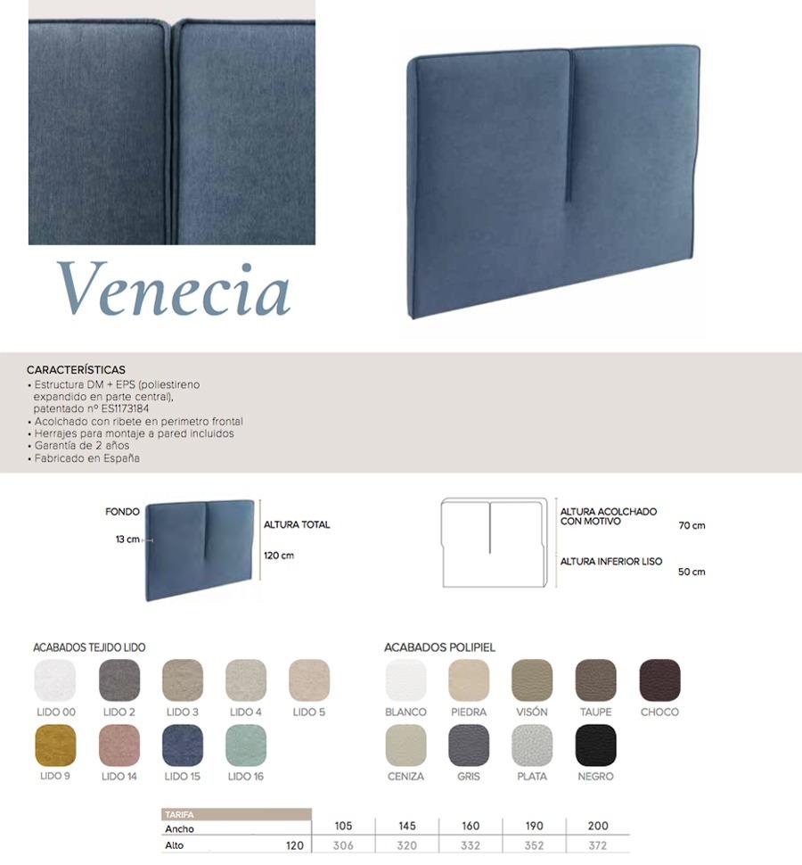 Cabecero modelo VENECIA - Ref. 0002