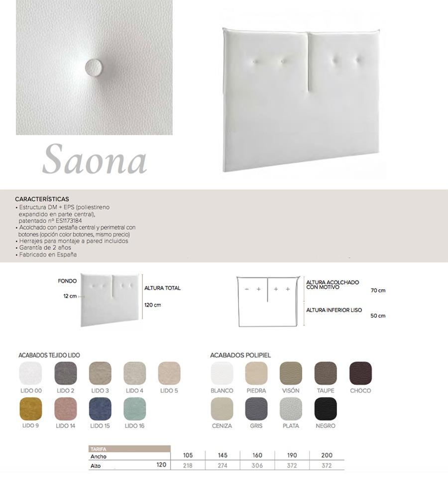 Cabecero modelo SAONA - Ref. 0003