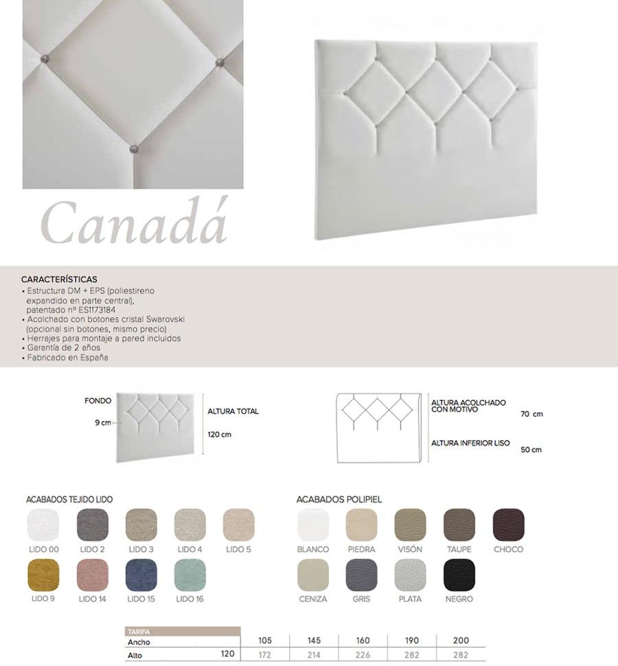 Cabecero modelo CANADA - Ref. 0007