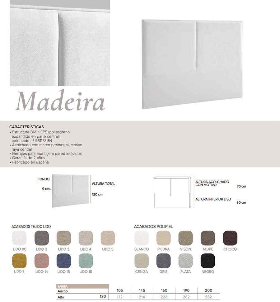 Cabecero modelo MADEIRA - Ref. 0009