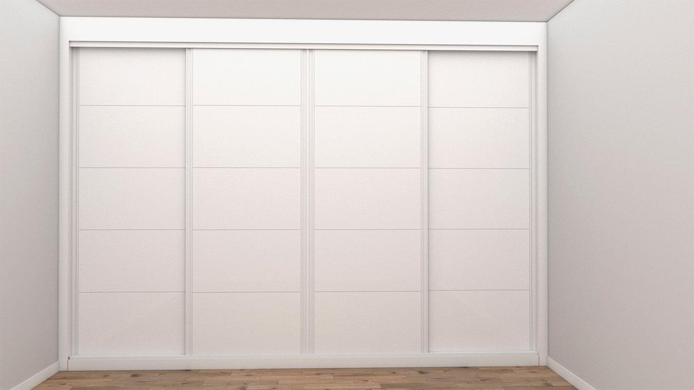 Armarios y vestidores blanco puertas correderas