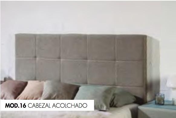 CABEZAL TC ACOLCHADO MOD.16