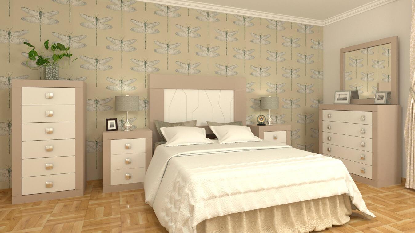 Dormitorio modelo GRANITO LISO - Ref: 0010