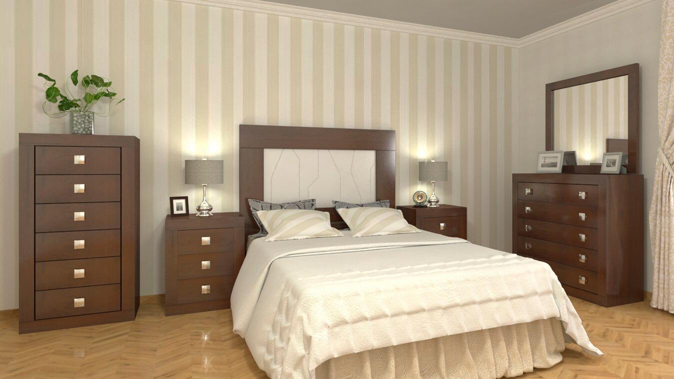 Dormitorio modelo GRANITO LISO - Ref: 0011