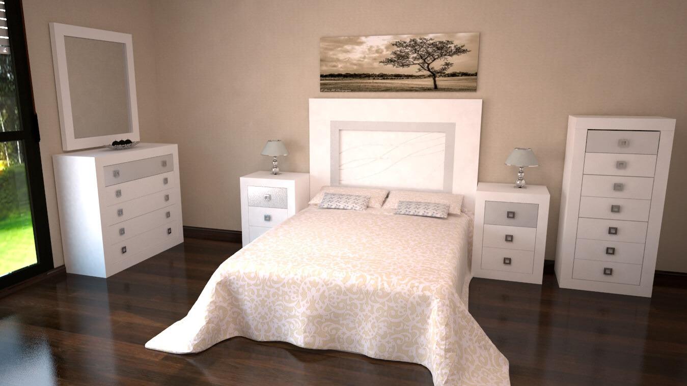 Dormitorio modelo GRANITO LISO - Ref: 0005