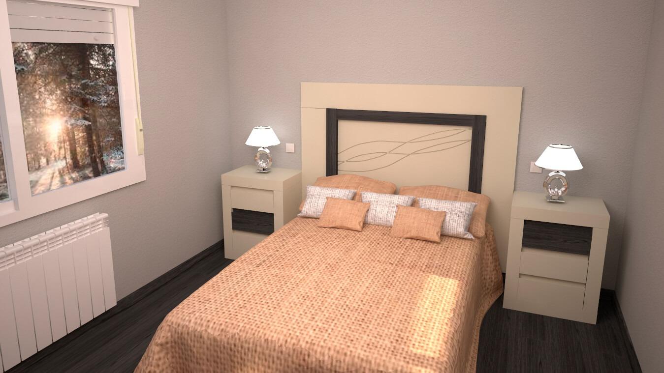 Dormitorio modelo GRANITO LISO - Ref: 0006