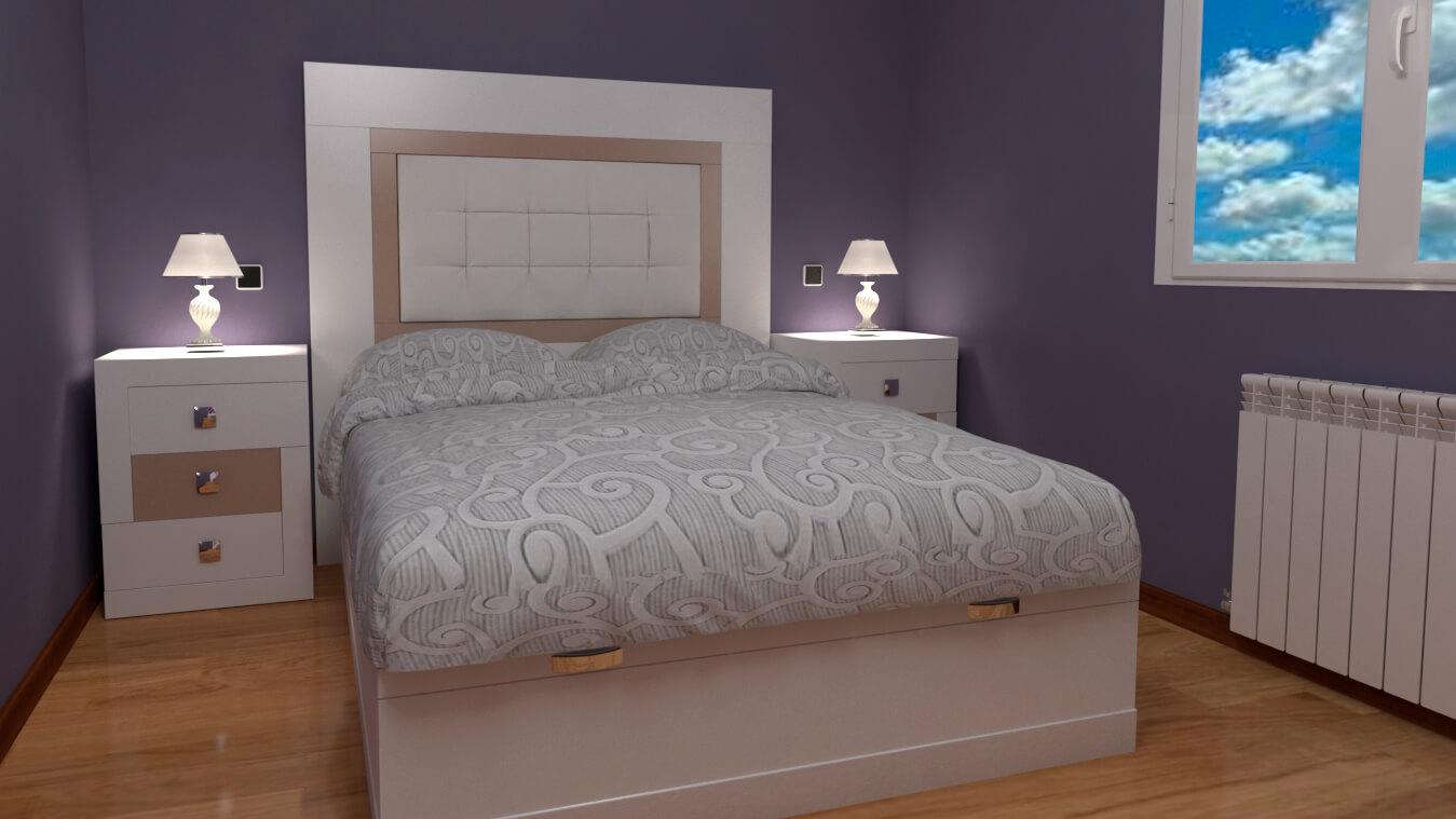 Dormitorio modelo GRANITO LISO - Ref: 0008