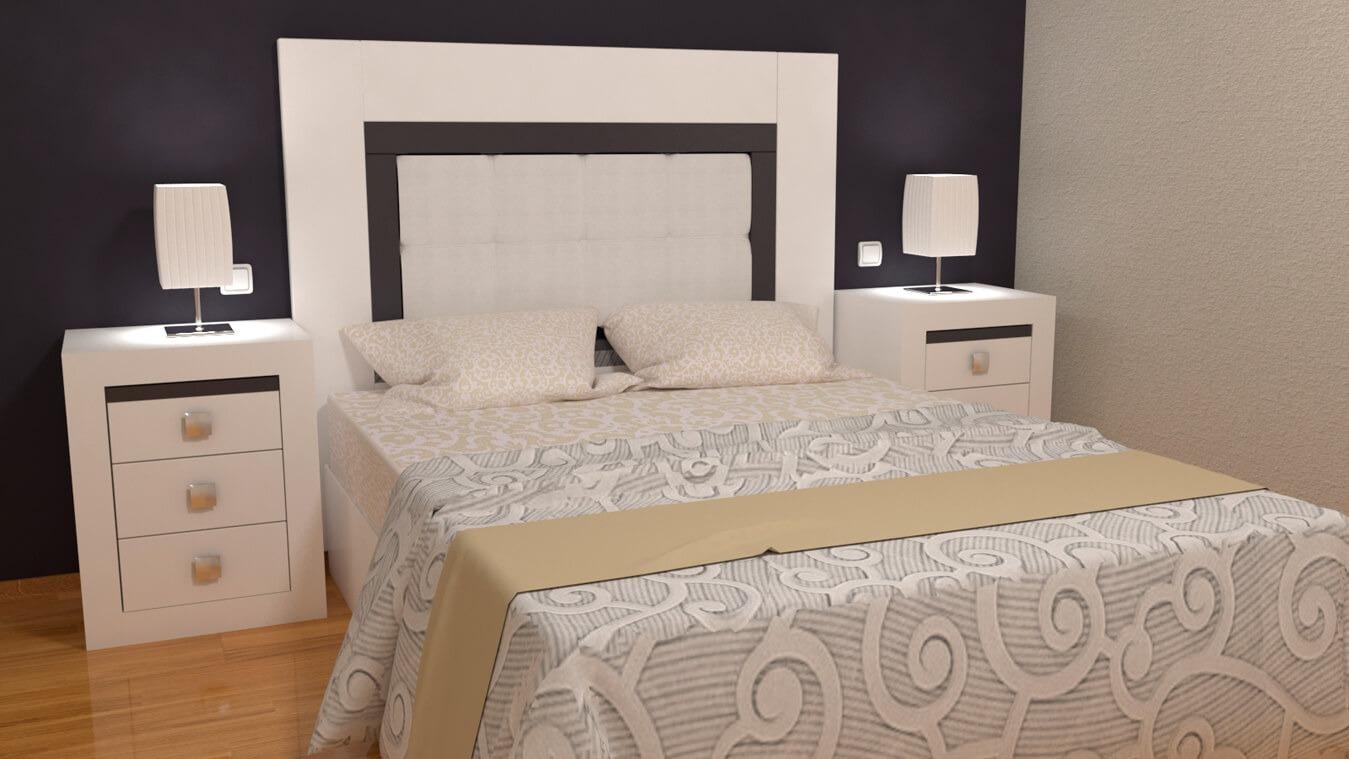Dormitorio modelo GRANITO LISO - Ref: 0009