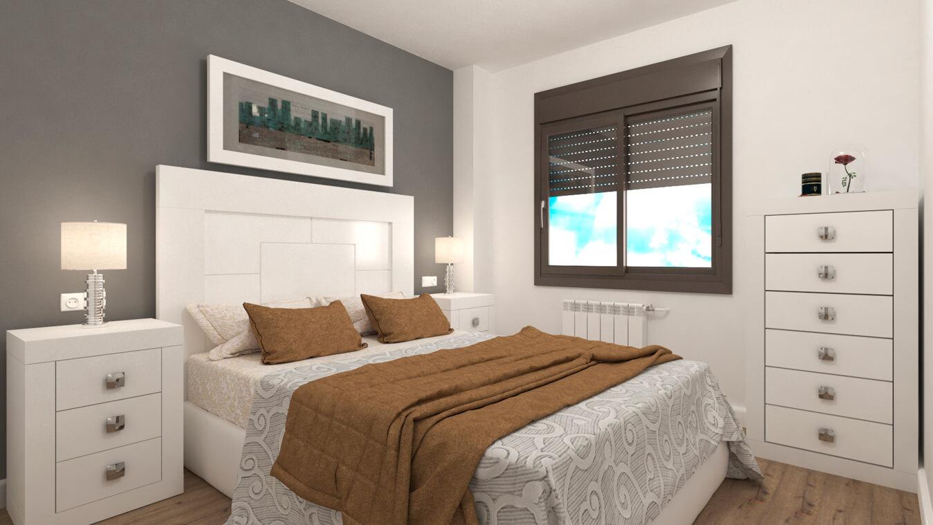 Dormitorio modelo GRANITO LISO - Ref: 0001