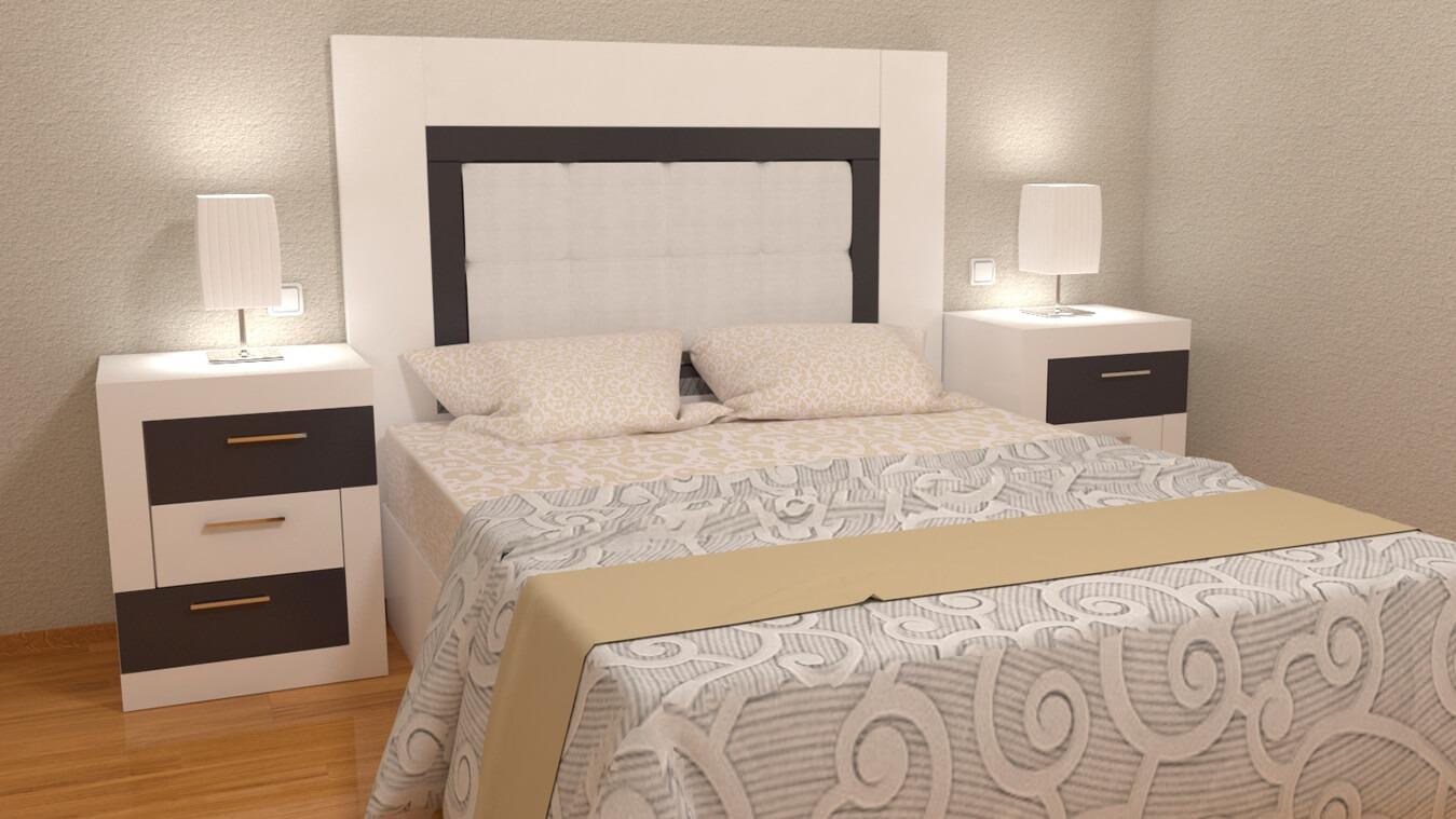 Dormitorio modelo GRANITO LISO - Ref: 0002