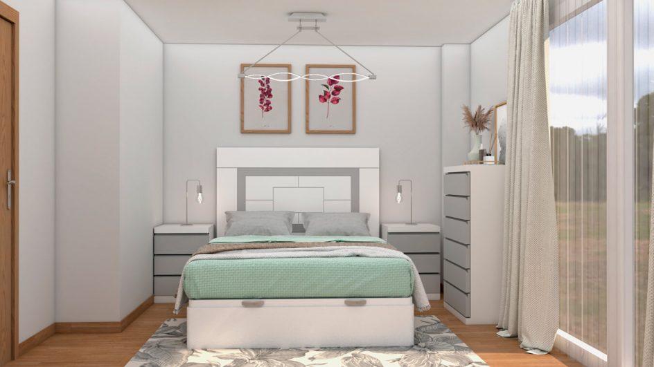 Dormitorio modelo GRANITO SOLAPADO - Ref: 0495