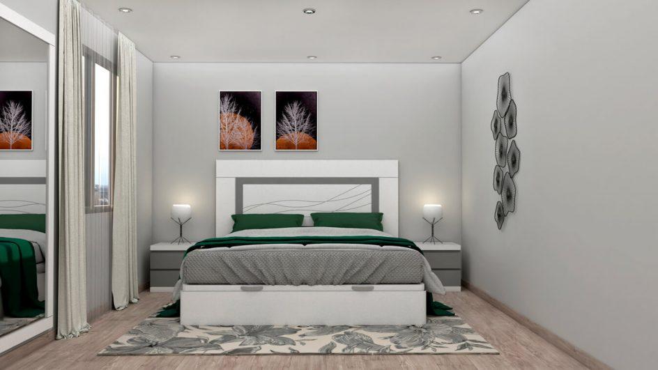Dormitorio modelo GRANITO SOLAPADO - Ref: 0493