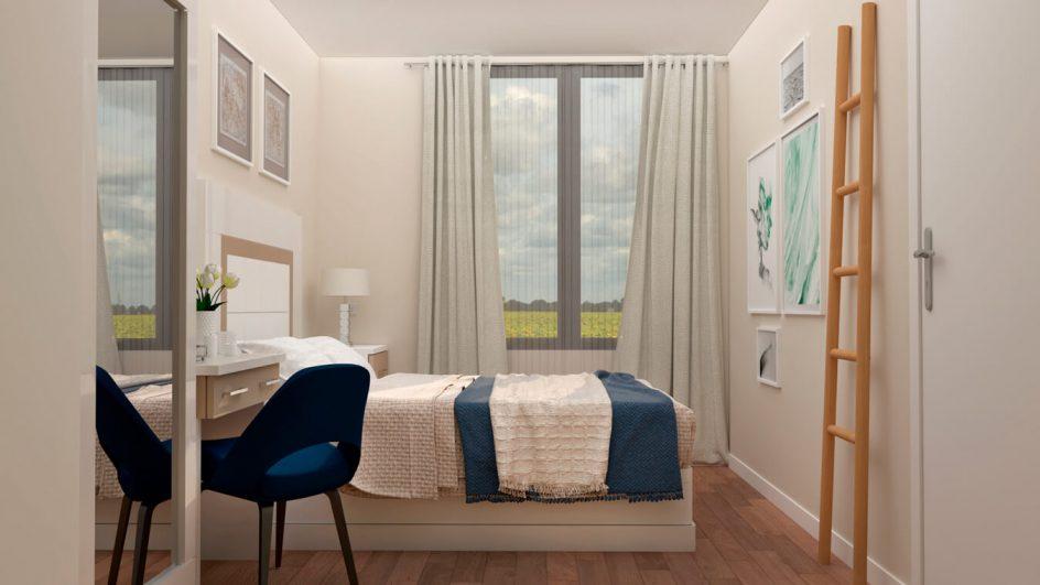 Dormitorio modelo GRANITO SOLAPADO - Ref. 0025
