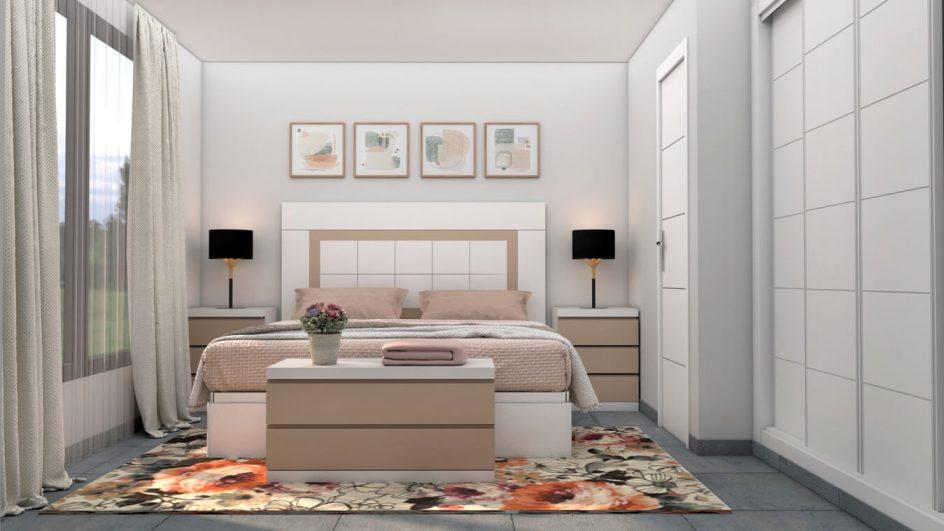 Dormitorio modelo GRANITO SOLAPADO - Ref: 0496