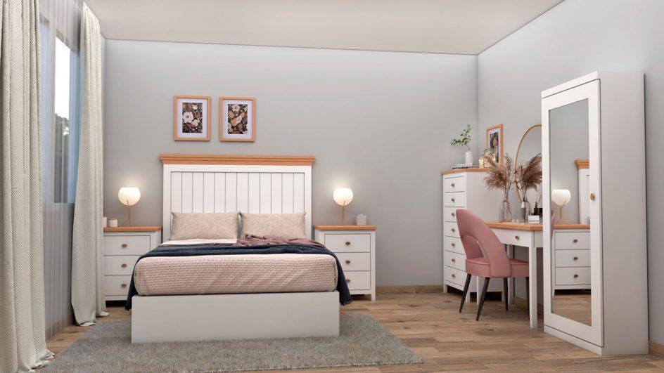 muebles de dormitorio en color blanco