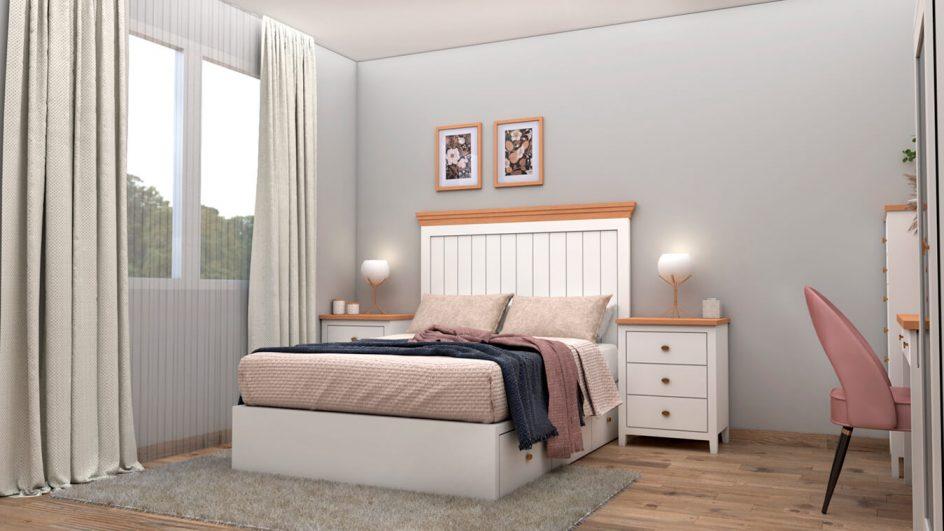 cabecera cama con mesillas