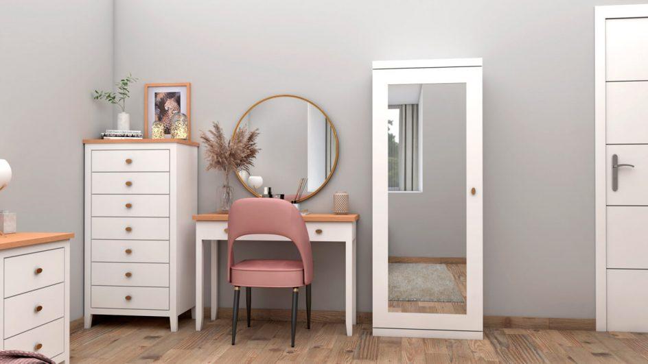 mesa de tocador dormitorio con espejo