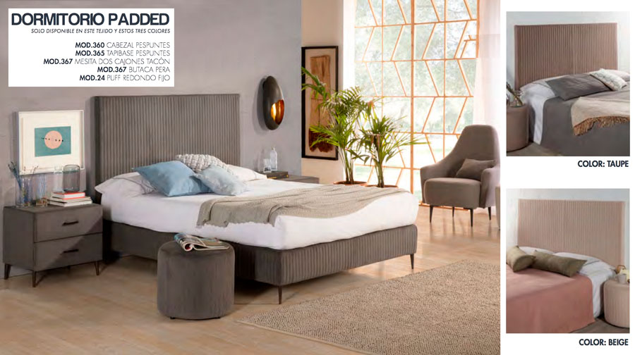 DORMITORIO TC PADDED