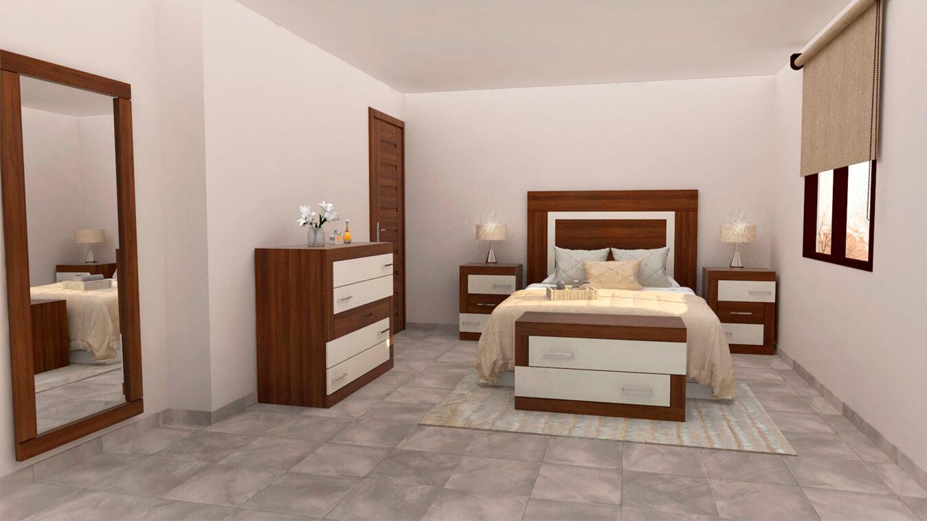 Dormitorio modelo GRANITO DESIGUAL - Ref: 0001