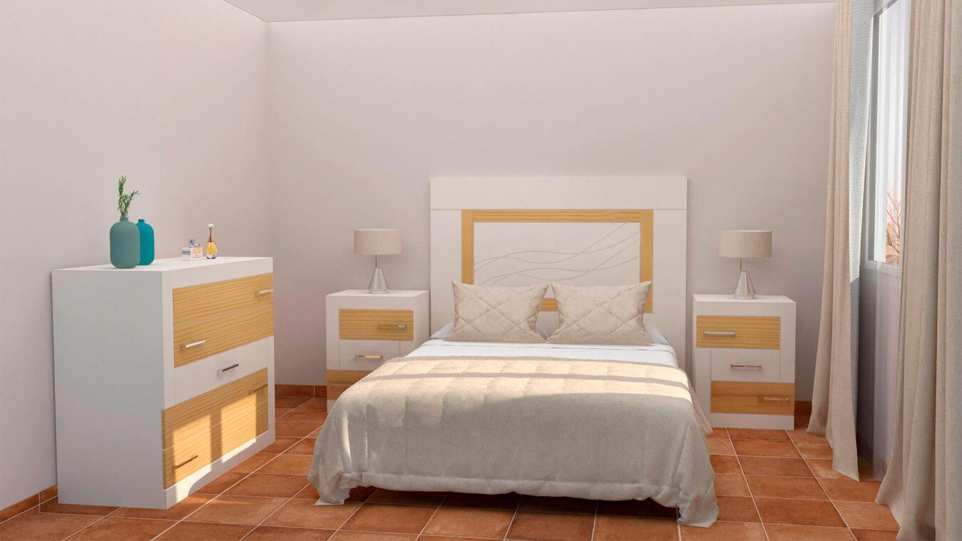 Dormitorio modelo GRANITO DESIGUAL - Ref: 0004