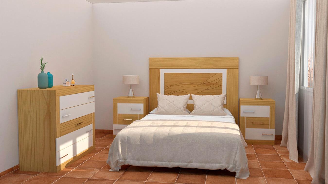 Dormitorio modelo GRANITO DESIGUAL - Ref: 0005