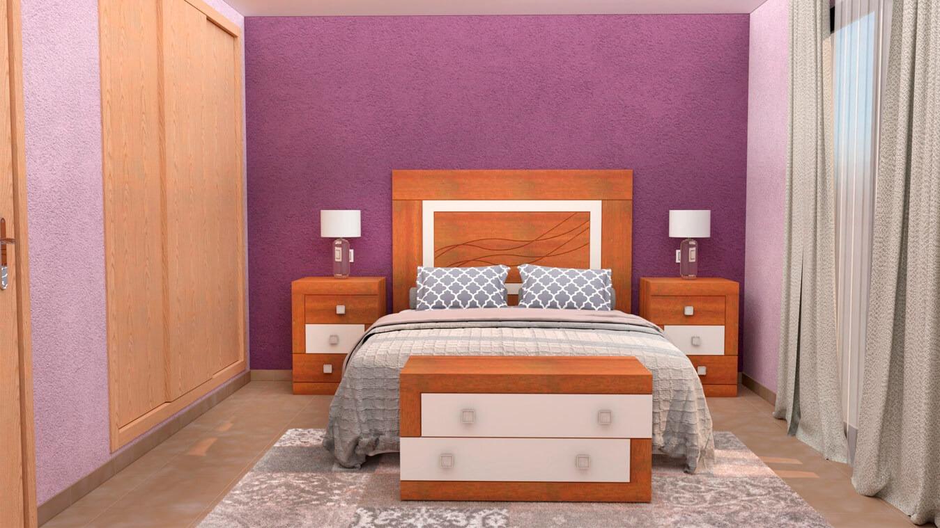 Dormitorio modelo GRANITO DESIGUAL - Ref: 0006
