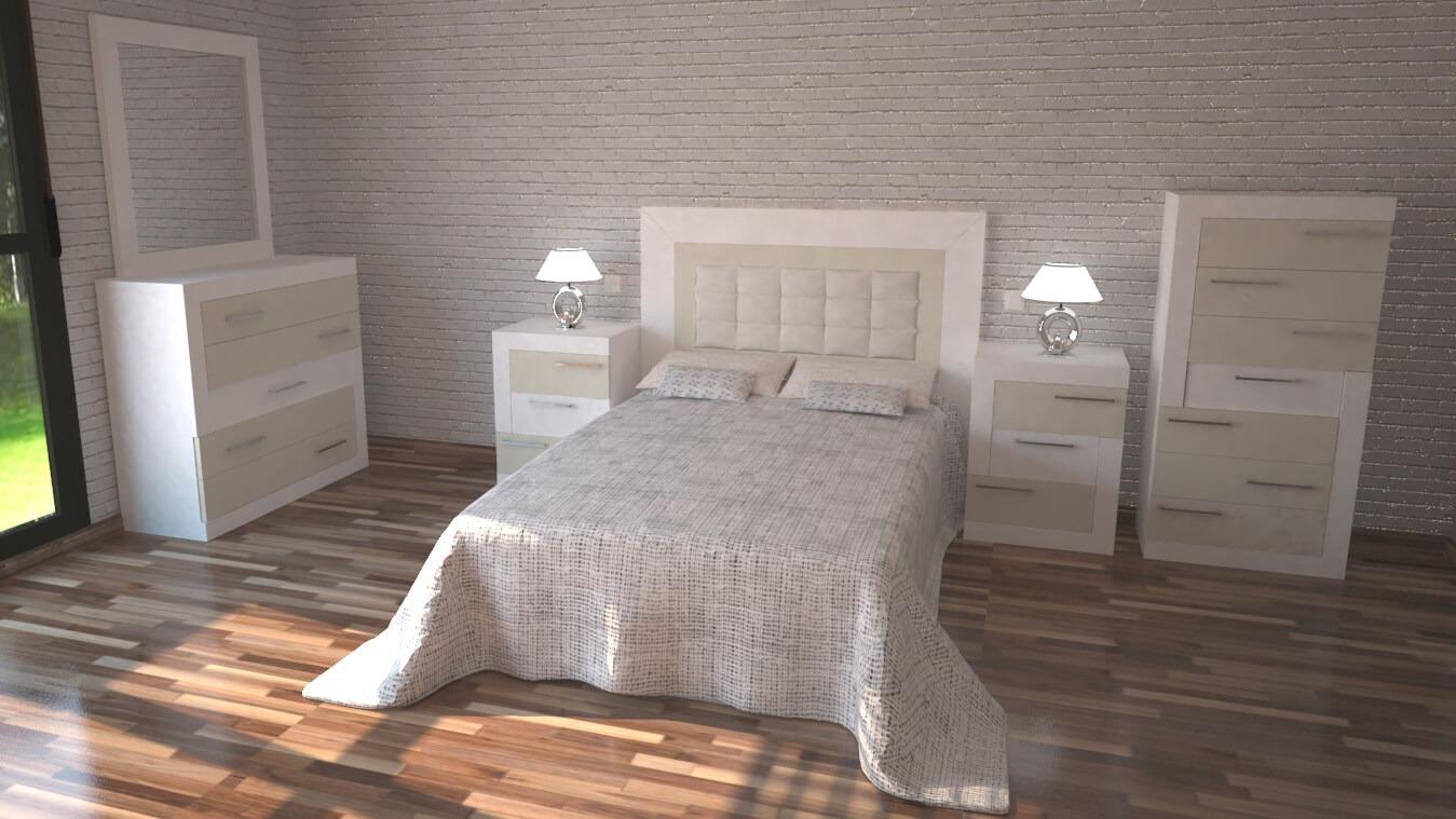 Dormitorio modelo GRANITO DESIGUAL - Ref: 0009