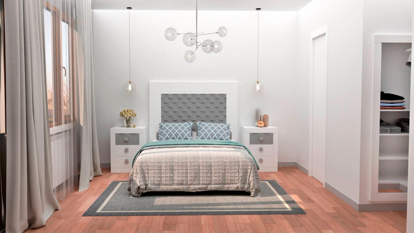 Dormitorio modelo GRANITO OLAS - Ref: 0001