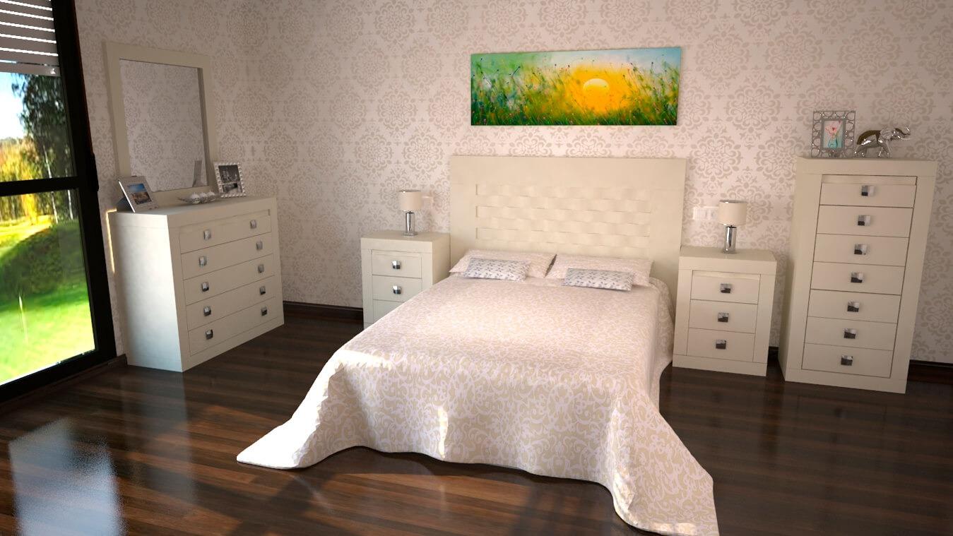 Dormitorio modelo GRANITO OLAS - Ref: 0014