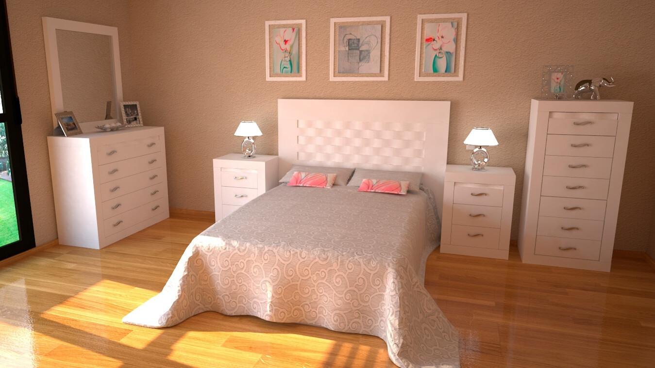 Dormitorio modelo GRANITO OLAS - Ref: 0019