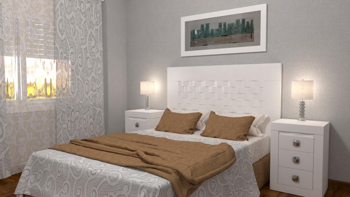Dormitorio modelo GRANITO OLAS - Ref: 0003