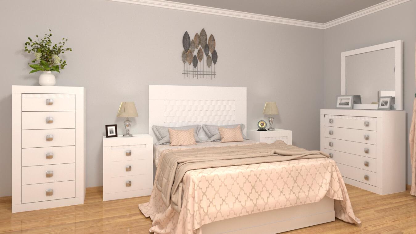 Dormitorio modelo GRANITO OLAS - Ref: 0022