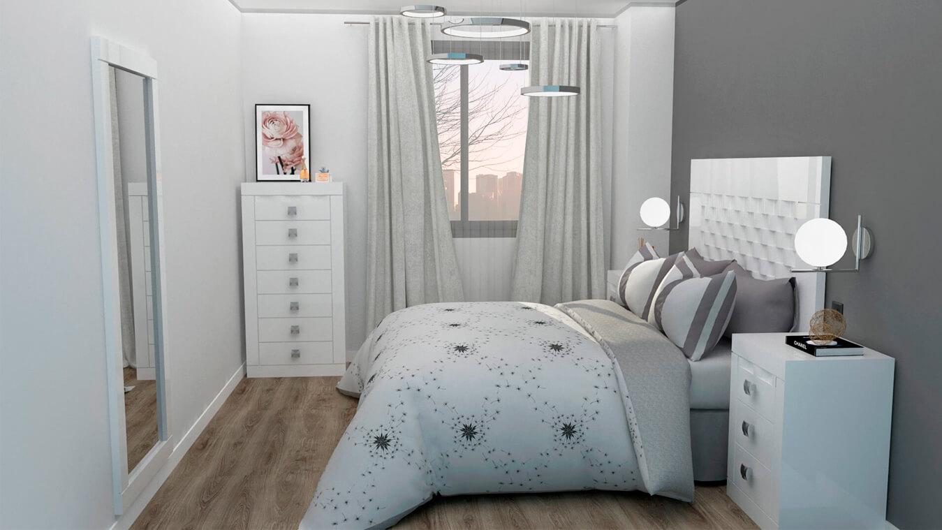 Dormitorio modelo GRANITO OLAS - Ref: 0006