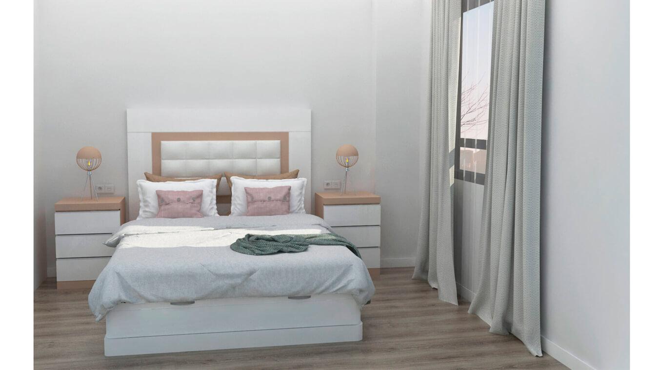 Dormitorio modelo GRANITO SOLAPADO - Ref: 0001
