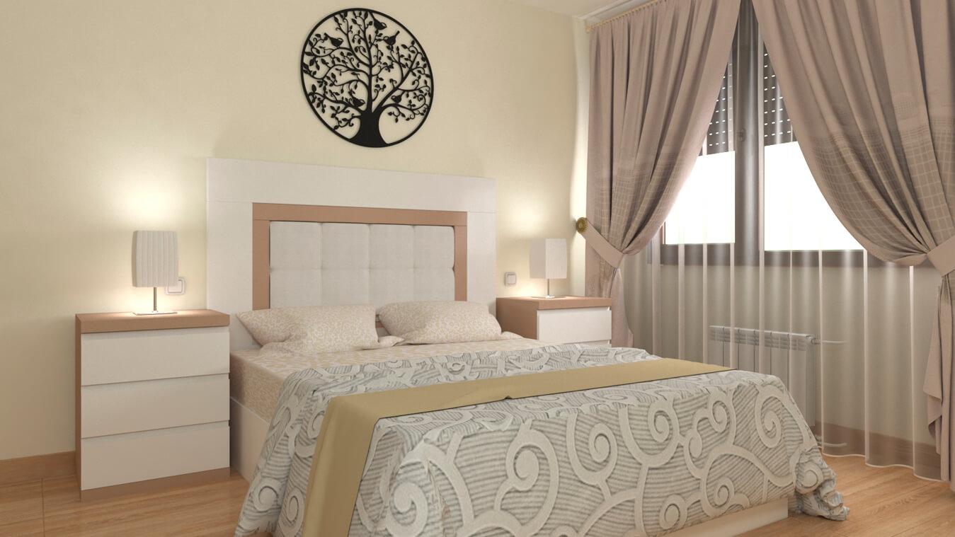 Dormitorio modelo GRANITO SOLAPADO - Ref: 0002