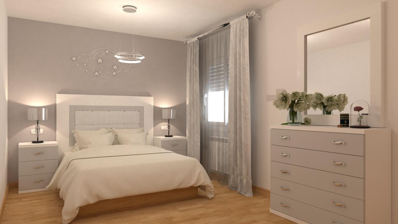 Dormitorio modelo GRANITO SOLAPADO - Ref: 0005