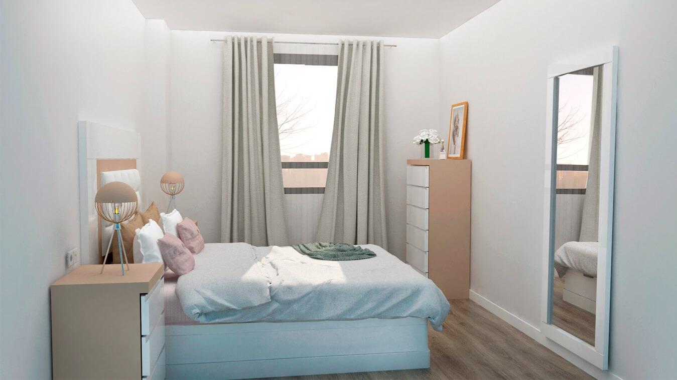 Dormitorio modelo GRANITO SOLAPADO - Ref: 0010