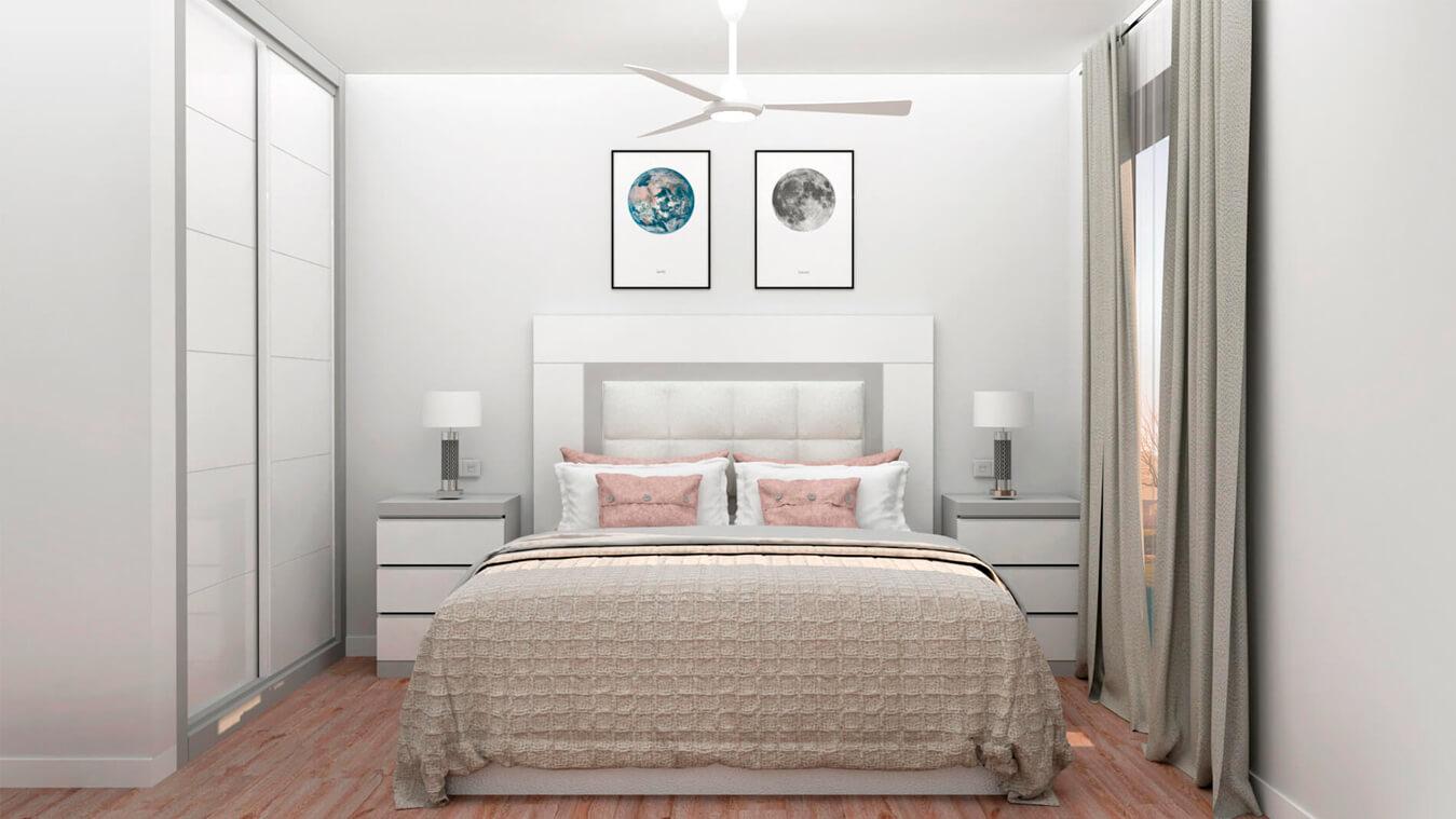 Dormitorio modelo GRANITO SOLAPADO - Ref: 0003