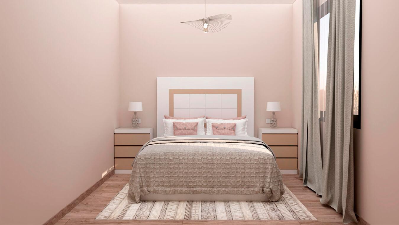 Dormitorio modelo GRANITO SOLAPADO - Ref: 0004