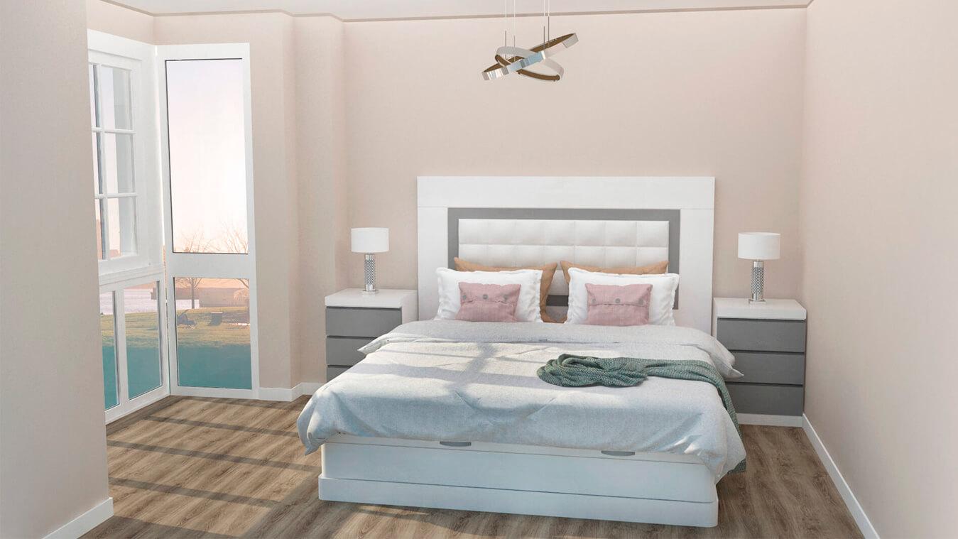 Dormitorio modelo GRANITO SOLAPADO - Ref: 0008