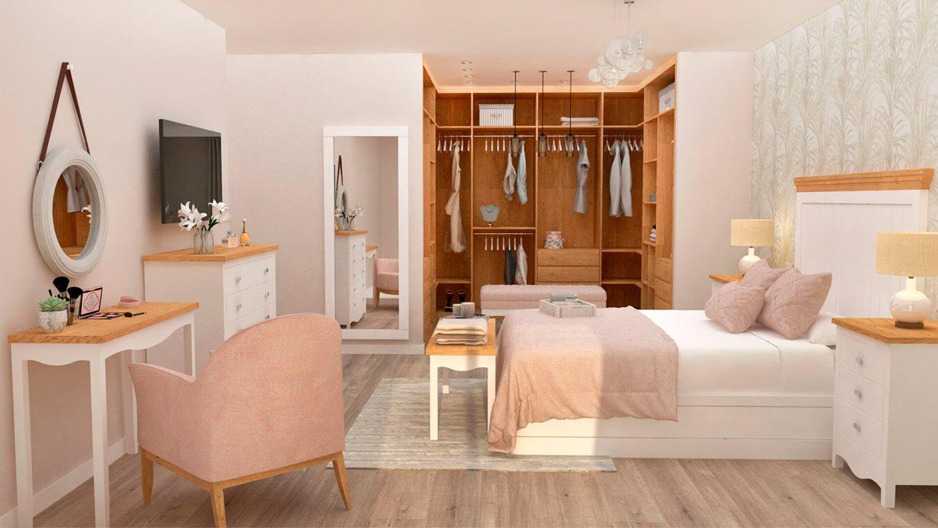 Dormitorio modelo ISABELLA - Ref: 0003