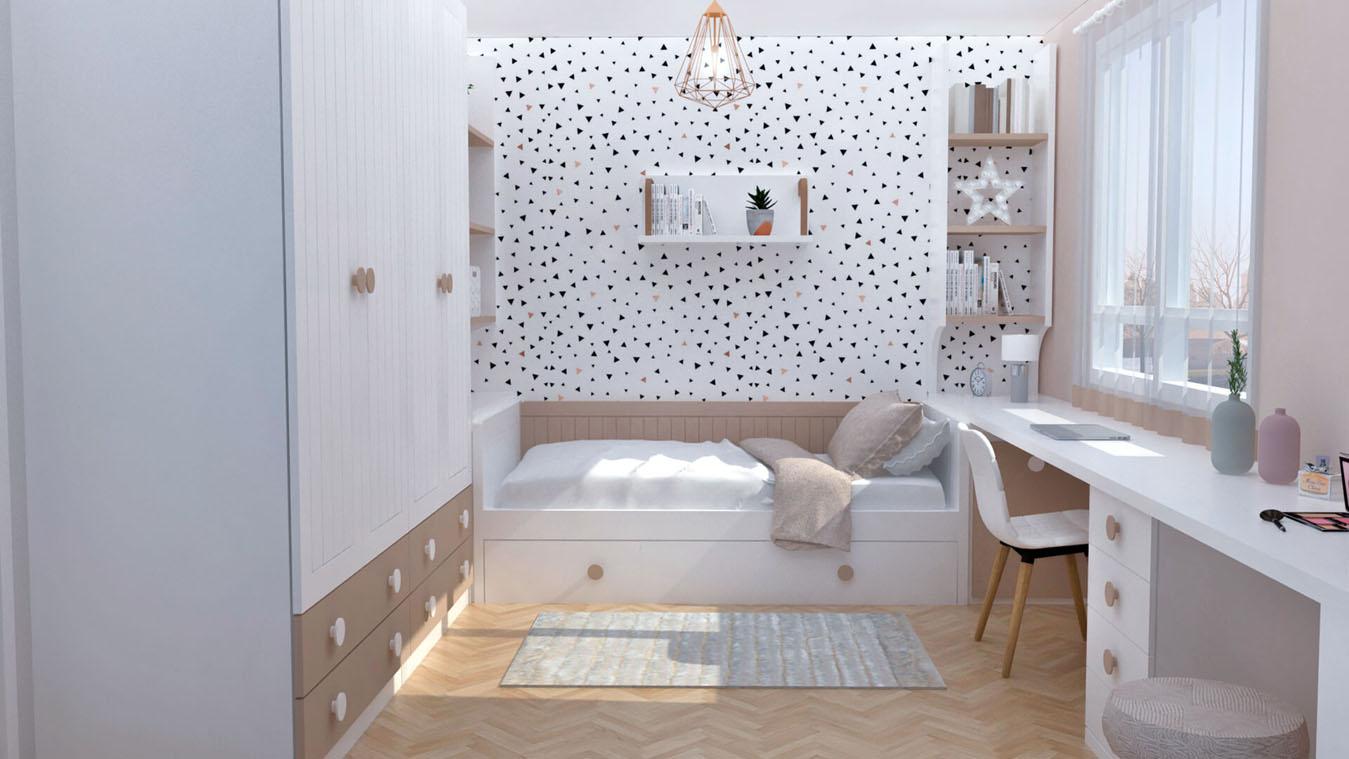 Dormitorio Juvenil CAMA NIDO - Ref: 0001