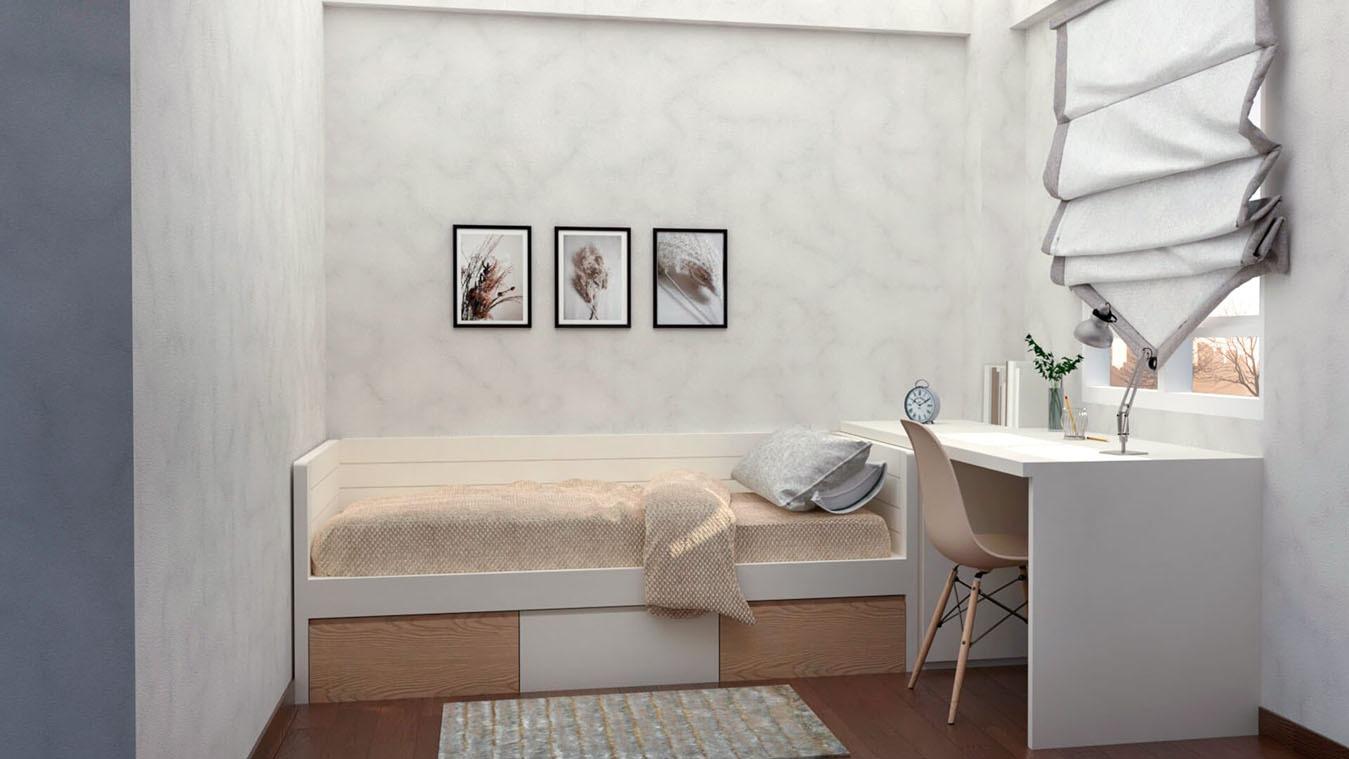 Dormitorio Juvenil CAMA NIDO - Ref: 0010